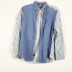 Tommy Hilfiger plaid and stripe top